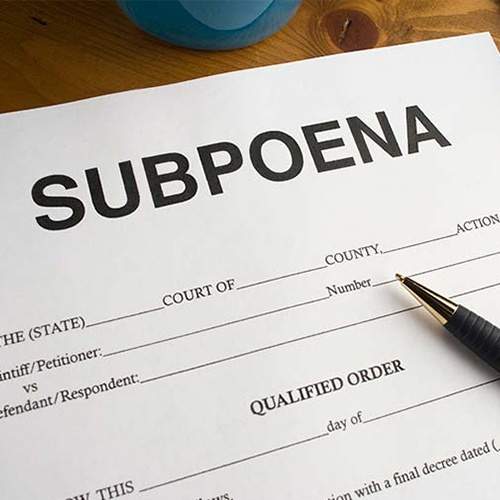 What Providers are Supposed to Do When Subpoenaed