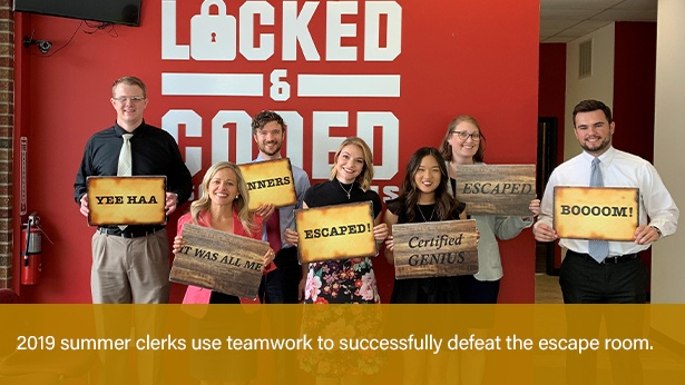 Summer Clerks 2019 Slide - Escape Room